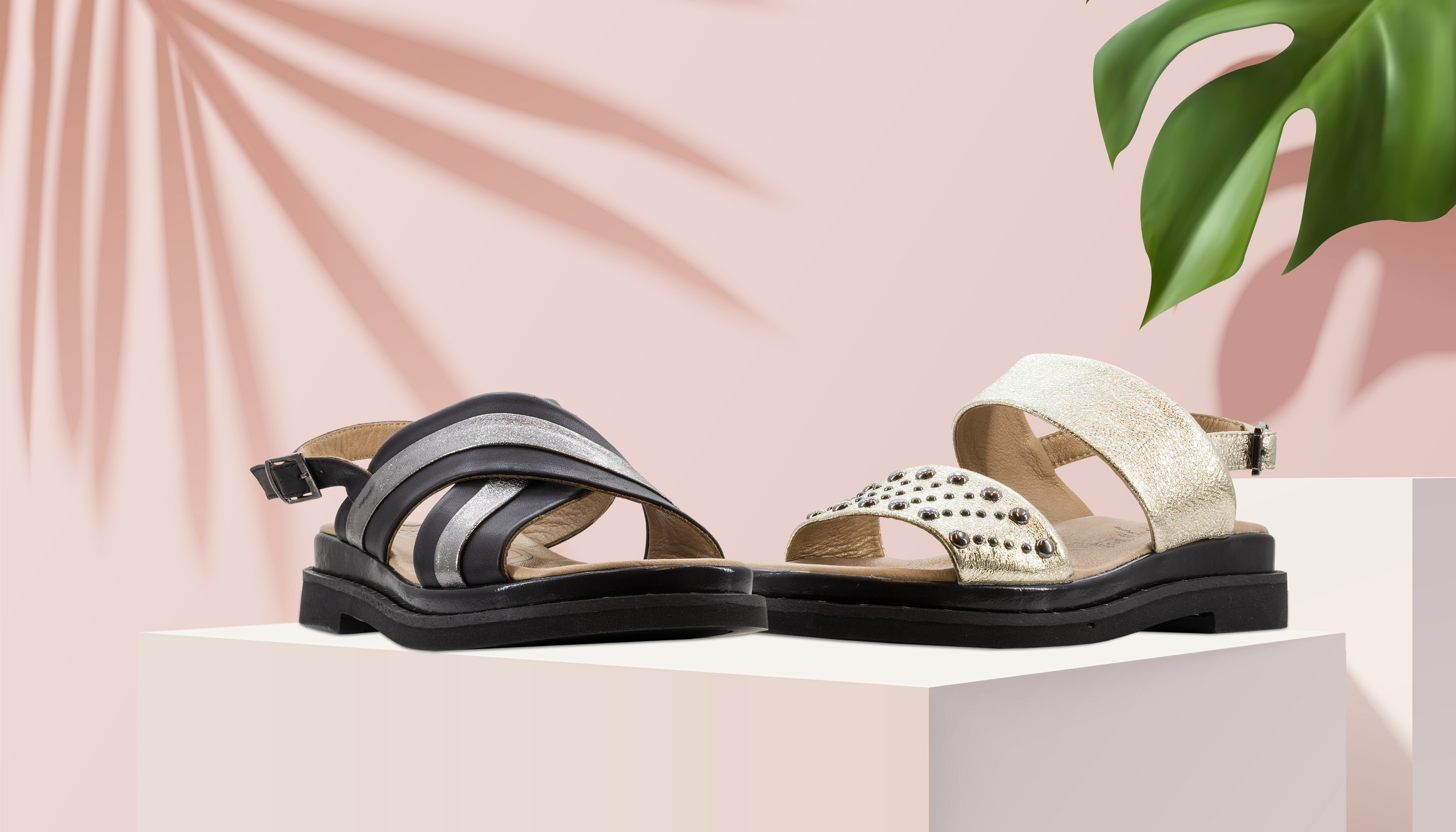 Blogger Sandalen im Metallic-Look